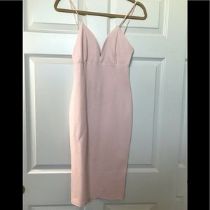 Pink Midi Dress! Only worn once! Great condition!